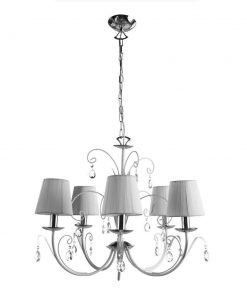 Подвесная люстра Arte Lamp Romana Snow A1743LM-5WH
