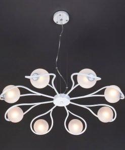 Подвесной светильник Eurosvet 70089/8 белый с серебром