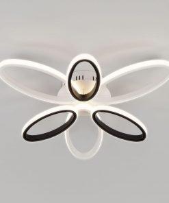 Потолочный светильник Eurosvet 90137/6 белый/чёрный