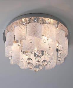 Потолочный светильник Eurosvet 80117-8 хром-белый
