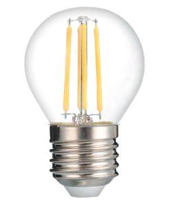 Лампа светодиодная филаментная Thomson E27 7W 6500K шар прозрачная TH-B2374