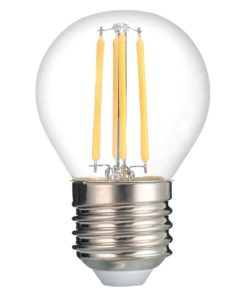 Лампа светодиодная филаментная Thomson E27 7W 2700K шар прозрачная TH-B2091