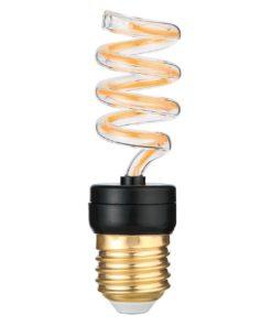 Лампа светодиодная филаментная Thomson E27 6W 2700K спираль прозрачная TH-B2384