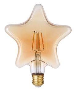 Лампа светодиодная филаментная Thomson E27 4W 1800K звезда прозрачная TH-B2188