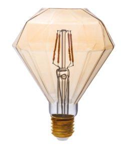 Лампа светодиодная филаментная Thomson E27 4W 1800K бриллиант прозрачная TH-B2196